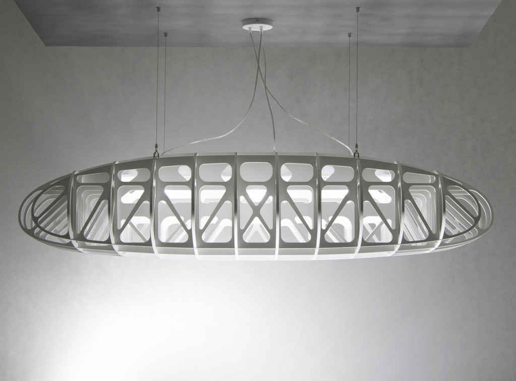 IN THE AIR - a large modern ceiling lamp, ceiling light, pendant lamp