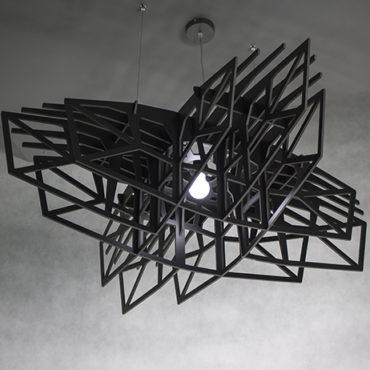Czarna Gwiazda lampa wicząca