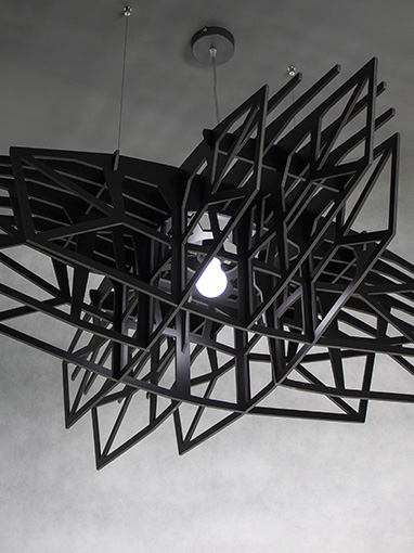 duża czarna lampa wisząca,large black pendant light