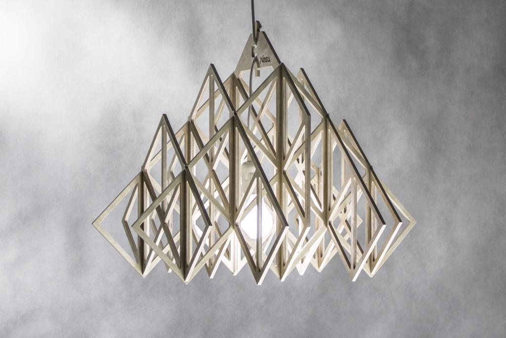 lampa wisząca HIMMELI DIAMENT abażur sklejka