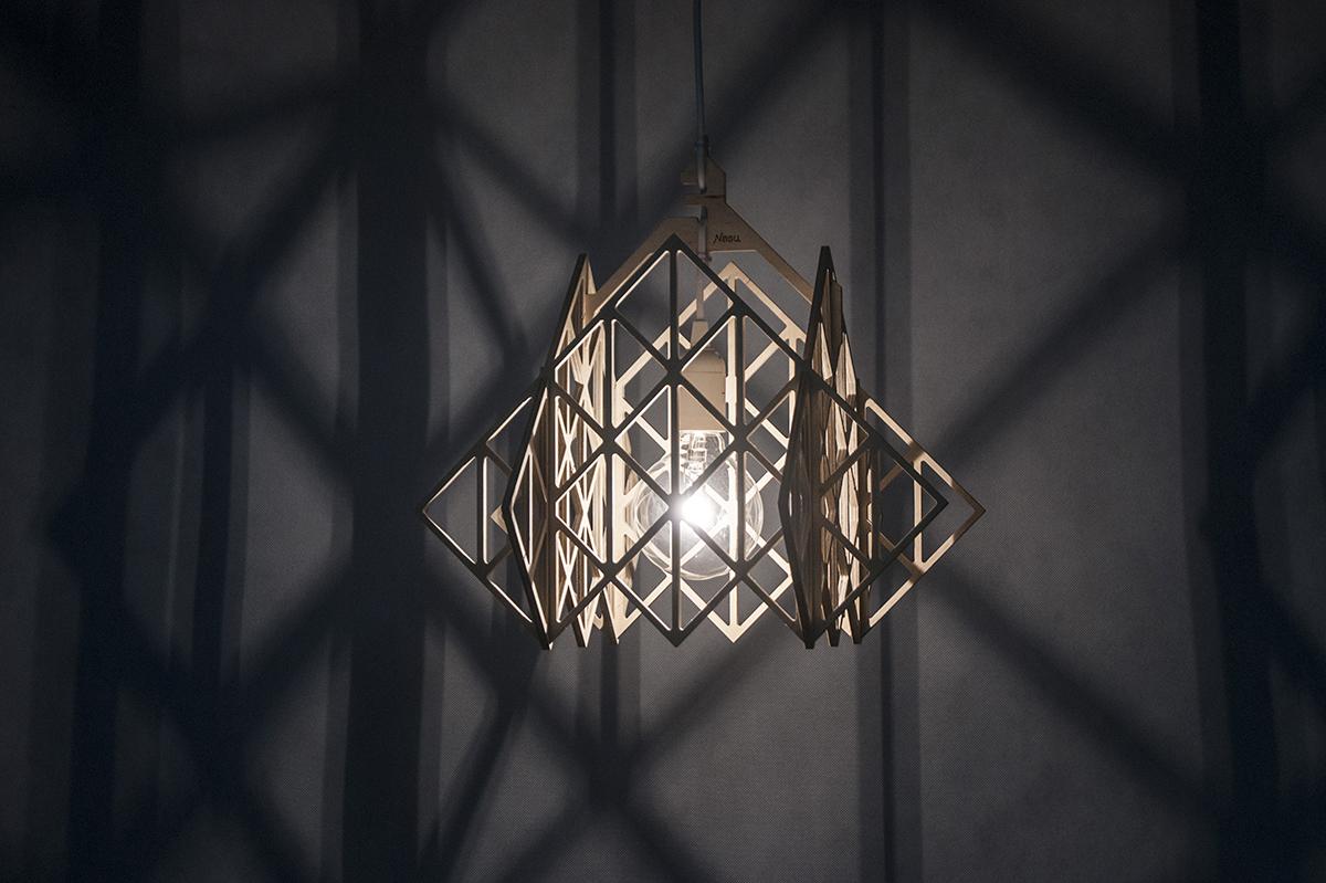 lampa wisząca TAKAMAŁA HIMMELI ze sklejki, Nasu