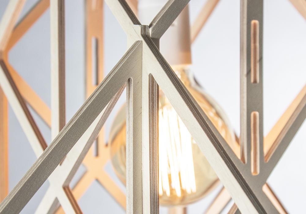 LAJT HIMMELI - drewniana eko lampa ze sklejki