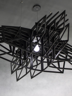 BLACK STAR - large black ceiling light, ceiling lamp, pendant lamp