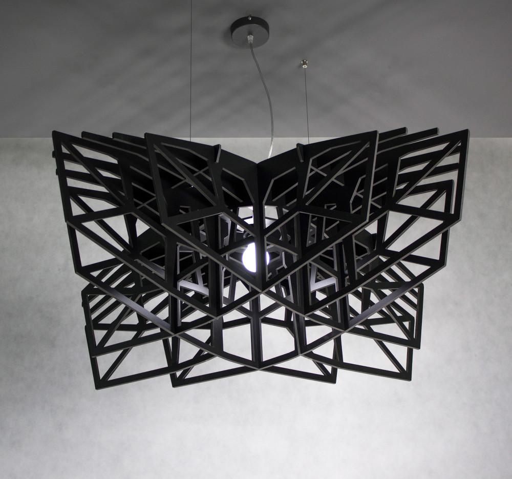 BLACK STAR   Large Black Ceiling Light, Ceiling Lamp, Pendant Lamp