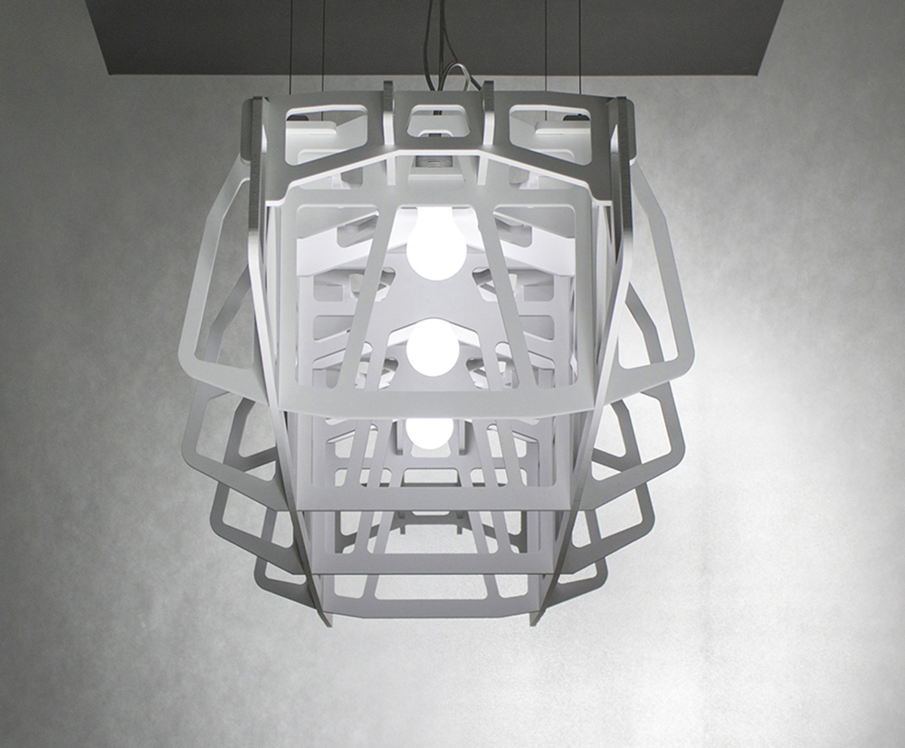 BETWEEN THE EDGES - a large pendant lamp, ceiling lamp, ceiling light