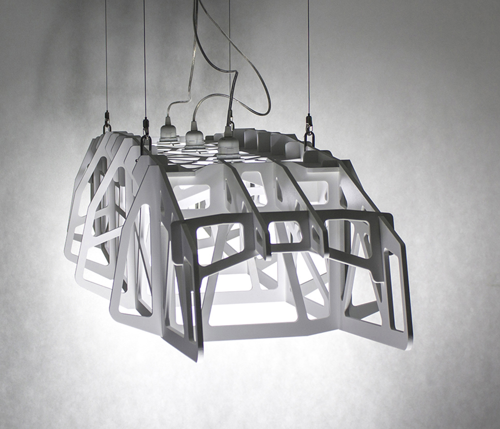 duża lampa wisząca - POMIĘDZY BRZEGAMI