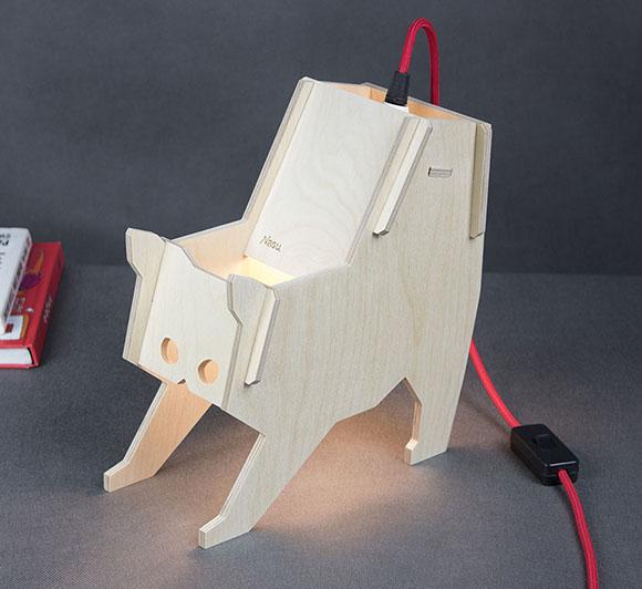 CNC Głogów - lampka nocna ze sklejki